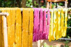 Various color silk prepare for weaving Royalty Free Stock Photography