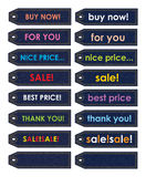 Various color stickers Stock Photo