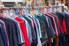 Cloth on rack stock photography