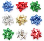 Various colored bows Royalty Free Stock Image