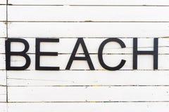 Cabins on a beach Royalty Free Stock Photos