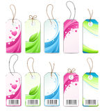 Various colored labels. Isolated on white background vector illustration