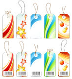 Various colored labels. Isolated on white vector illustration