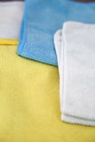 Various colored microfiber cloths Royalty Free Stock Images