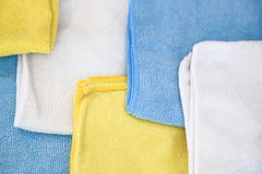 Various colored microfiber cloths Royalty Free Stock Photography