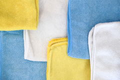 Various colored microfiber cloths Royalty Free Stock Photo