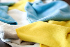 Various colored microfiber cloths Stock Image