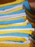 Various colored microfiber cloths Royalty Free Stock Image