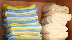 Various colored microfiber cloths Stock Photography