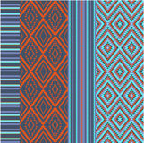 Various colored motifs. Blue and orange Stock Photos