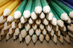 Various colored pencils in row as a creativity close up Royalty Free Stock Photography