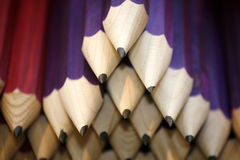 Various colored pencils in row as a creativity selective focus Royalty Free Stock Image