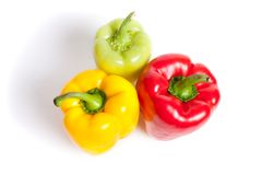 Various colored peppers Stock Photo