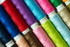 Various colored threads Royalty Free Stock Photos
