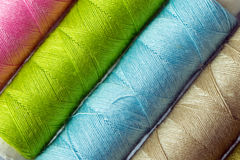 Various colored threads Royalty Free Stock Photo