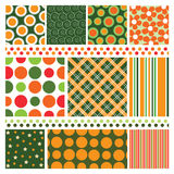 Design Background Elements. Various Colorful Abstact Seamless Background Elements - Illustration in Freely Scalable & Editable Vector Format Stock Illustration