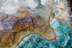Various colorful abstract decorative glass wall stock photo
