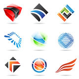 Various colorful abstract icons, set 1. Various colorful abstract icons isolated on a white background Stock Image