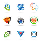 Various colorful abstract icons, Set 10 Royalty Free Stock Photo