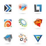 Various colorful abstract icons, Set 12 Stock Photography