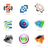 Various colorful abstract icons, Set 14. Various colorful abstract icons isolated on a white background Royalty Free Stock Photography