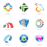 Various colorful abstract icons, Set 15. Various colorful abstract icons isolated on a white background Royalty Free Stock Photo