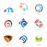 Various colorful abstract icons, Set 19. Various colorful abstract icons isolated on a white background Stock Images