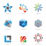 Various colorful abstract icons, Set 2. Various colorful abstract icons isolated on a white background Royalty Free Stock Images
