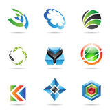 Various colorful abstract icons, Set 20. Various colorful abstract icons isolated on a white background Stock Illustration
