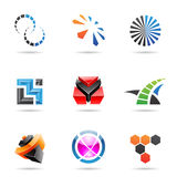 Various colorful abstract icons, Set 21. Various colorful abstract icons isolated on a white background Stock Photography