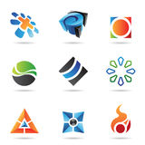 Various colorful abstract icons, Set 22 Royalty Free Stock Photo