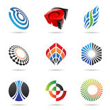 Various colorful abstract icons, Set 3. Various colorful abstract icons isolated on a white background Royalty Free Stock Images