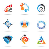 Various colorful abstract icons, Set 5. Various colorful abstract icons isolated on a white background Stock Photography