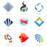 Various colorful abstract icons, Set 6. Various colorful abstract icons isolated on a white background Stock Image