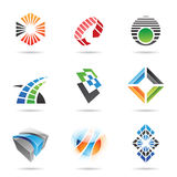 Various colorful abstract icons, Set 8. Various colorful abstract icons isolated on a white background Stock Photos