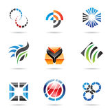 Various colorful abstract icons, Set 9. Various colorful abstract icons isolated on a white background Royalty Free Stock Images