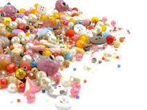 Various colorful beads Royalty Free Stock Images