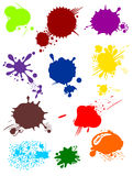 Various colorful blurs. Vector illustration of a colorful blots. Collection various blurs Royalty Free Stock Photos