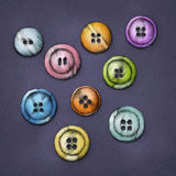 Various colorful buttons Stock Photography
