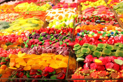 Various colorful candy in a foreign market Stock Photo