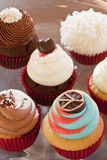 Various colorful cupcakes Stock Image