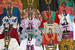 Various colorful dress in Delhi market Royalty Free Stock Photos