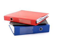 Various colorful files Royalty Free Stock Photo