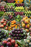 Varioud fruits and vegetables at market Royalty Free Stock Photo