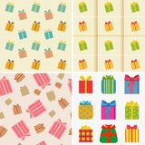 Various colorful gifts Stock Images