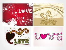Various colorful heart background set for your des Stock Photography