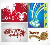 Various colorful heart background set for your des Royalty Free Stock Photos