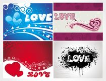Various colorful heart background set for your des Stock Photos