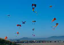 Various Colorful Kites Flying Royalty Free Stock Photo