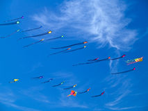 Various Colorful Kites Flying Stock Photos